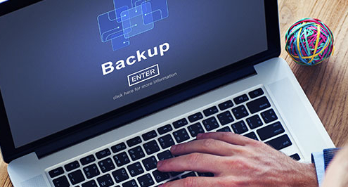 """Computer that reads """"backup"""""""